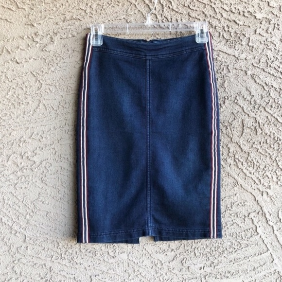 H&M Dresses & Skirts - H&M DIVIDED Denim Jean Sporty Stripe Pencil Skirt